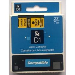 Dymo páska D1, 45018, S0720580, 12 mm, černá/žlutá - kompatibilní
