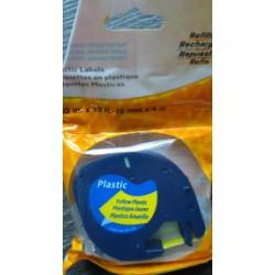 Kompatibilní páska DYMO LetraTag 59423, 12mm, plastová, černý tisk na žlutý podklad, 4m, S0721570