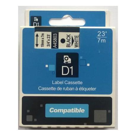 Dymo páska D1, 45803, S0720830, 12 mm, černá/bílá - kompatibilní
