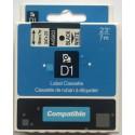 Dymo páska D1, 45803, S0720830, 19 mm, černá/bílá - kompatibilní