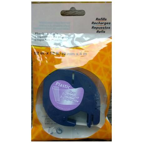 Dymo, 12268, S0721540, černý tisk/průhledný podklad, 4m, 12mm - kompatibilní