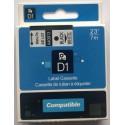 Dymo páska D1, 40913, S0720680, 9 mm, černá/bílá - kompatibilní