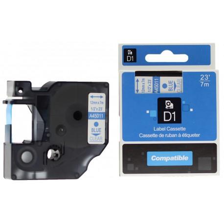 Dymo páska D1, 43613, S0720780, 6 mm, černá/bílá - kompatibilní