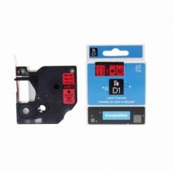 Dymo páska D1, 40917, S0720720, 9 mm, černá/červená, kompatibilní