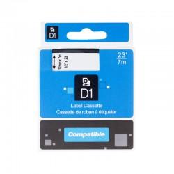 Dymo páska D1, 45022, S0720620, 12 mm, černá/stříbrná - kompatibilní