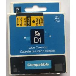 Dymo D1, 53718, S0720980, 24 mm, černá/žlutá - kompatibilní