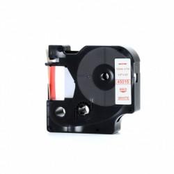 Dymo páska D1, 45015, S0720550, 12 mm, červený tisk / bílý podklad - kompatibilní
