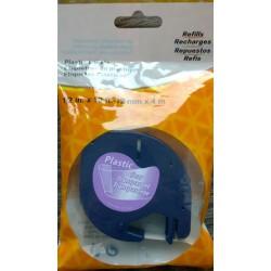 Dymo, 12267, černý tisk/průhledný podklad, 4m, 12mm - kompatibilní
